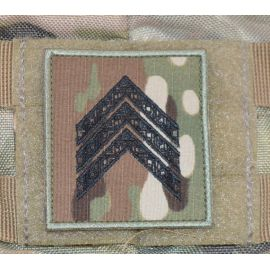Feltgradstegn Sergent (uden bue), MultiCam på Velcro