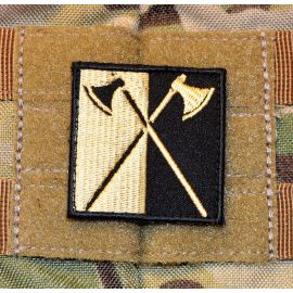 Daneøkser Patch - Sort/Khaki, 5x5cm