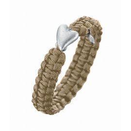 Soldier To Soldier armbånd med sølvlås og 1x0,02ct