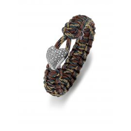 Soldier To Soldier armbånd med sølvlås og zirkonia