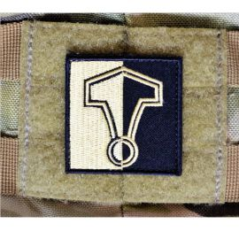 Thors Hammer Patch - Sort/Khaki, 5x5cm