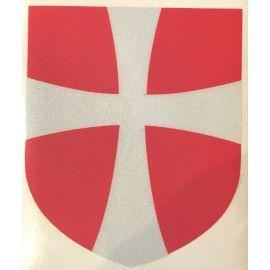 Danish Mantova Cross, Reflective sticker