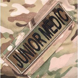 JUNIOR MEDIC ærmemærke, MultiCam på velcro
