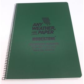 Modestone - Waterproof Tatktisk Notebook, A4, Grøn
